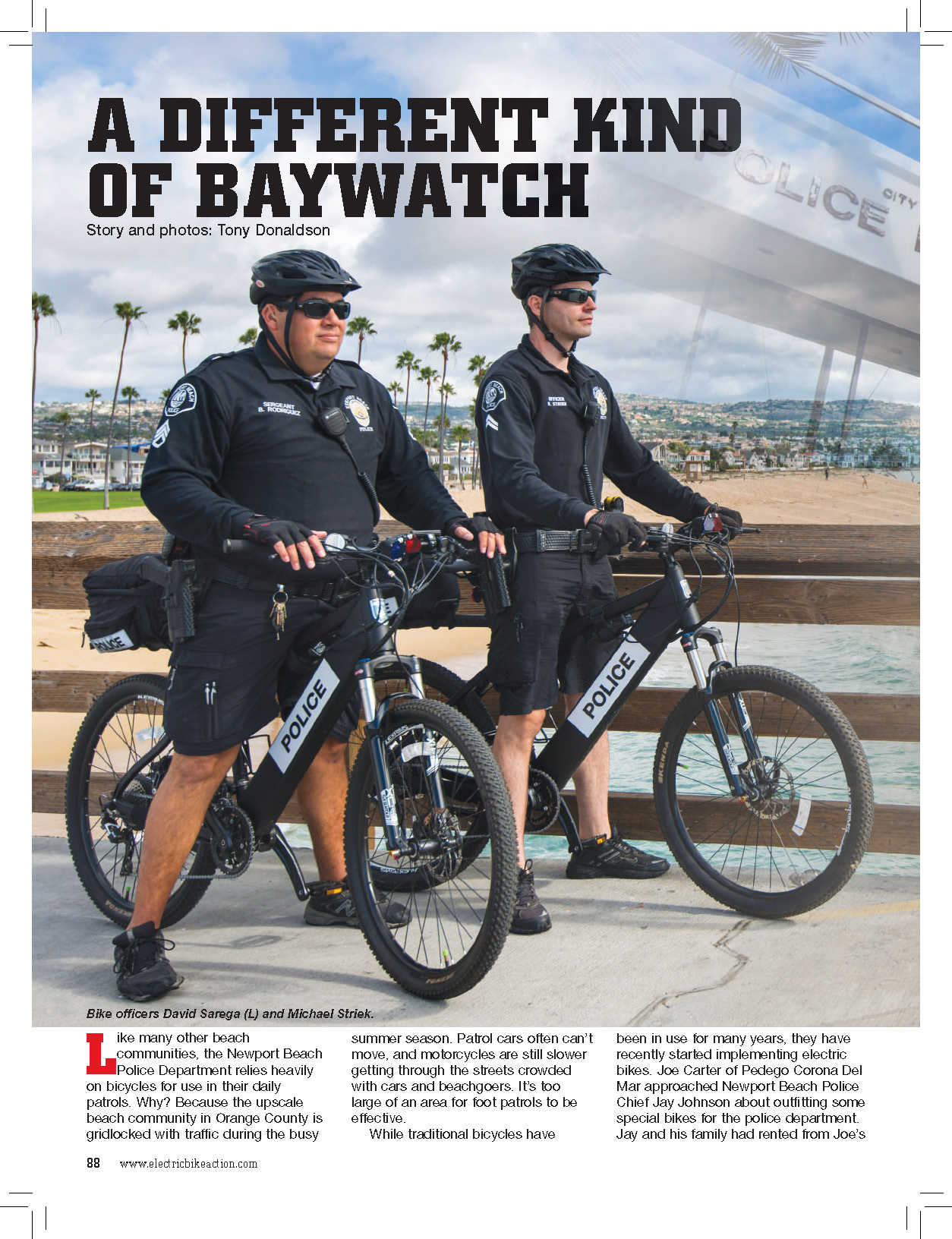 A Different Kind of Baywatch: E-Bikes for Law Enforcement