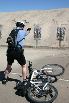 Firearms Training for Police Cyclists