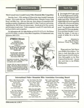 IPMBA News Vol. 5 No. 2 April/May 1996