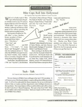 IPMBA News Vol. 5 No. 1 February 1996