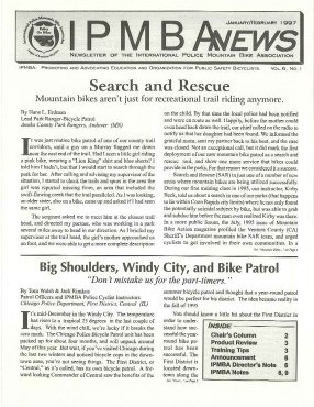 IPMBA News Vol. 6 No. 1  January/February 1997