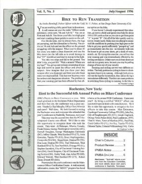 IPMBA News Vol. 5 No. 3  July/August 1996