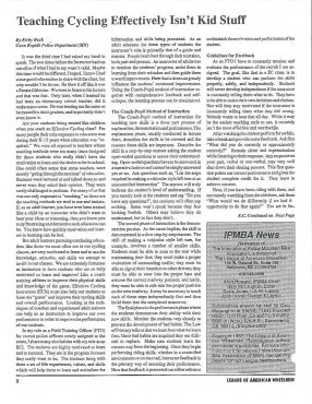 IPMBA News Vol. 1 No. 2 July 1992