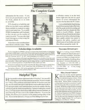 IPMBA News Vol. 5 No. 6  November/December 1996