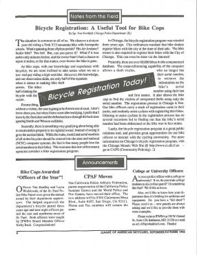 IPMBA News Vol. 5 No. 4  September/October 1996
