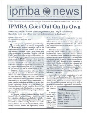 IPMBA News Vol. 8 No. 1  Winter 1999