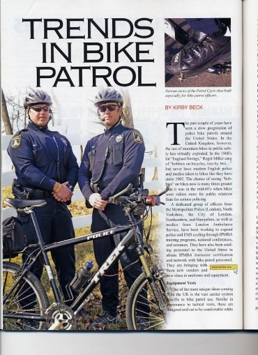 Trends in Bike Patrol