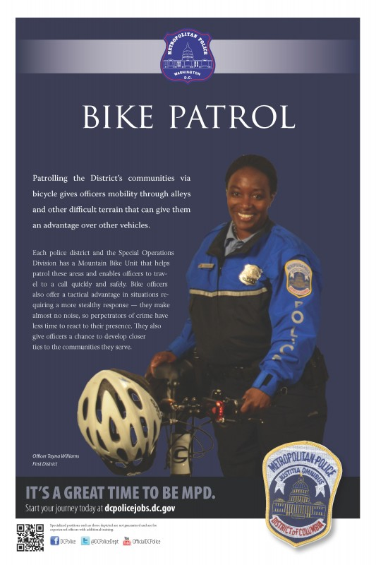 Bicycle Patrol Officer Tayna Williams