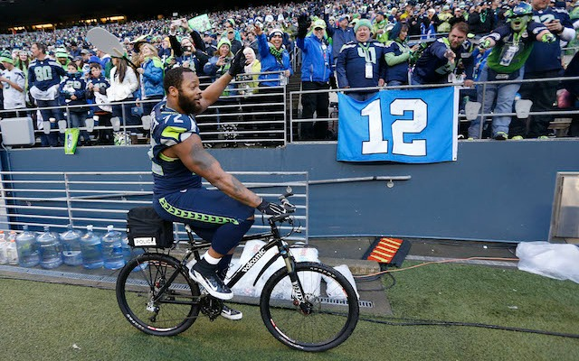 Seattle's Michael Bennett compares postgame bike ride to losing virginity