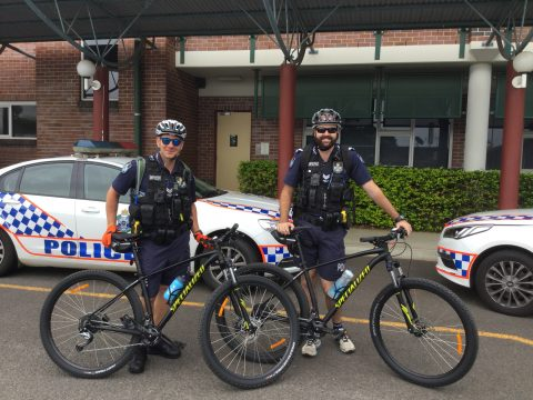 Bundaberg police on bikes