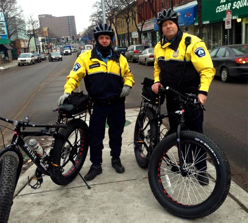 Minneapolis Police Cruise On Fat Bikes