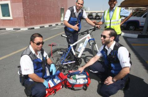 Cycle medics: Cure for traffic-clogged roads?