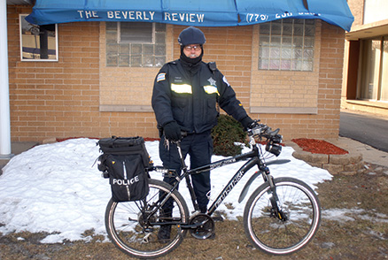 Weather can't stop officer on bike
