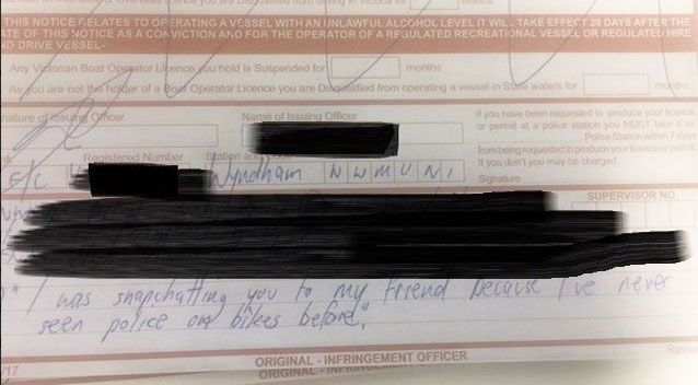Driver's creative excuse after caught on phone by police