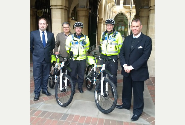 Local Councillors fund new bikes for police in Northampton