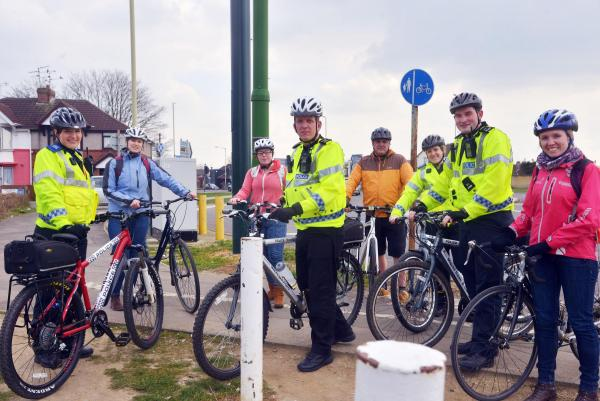 Police on their bikes in training to build roads confidence