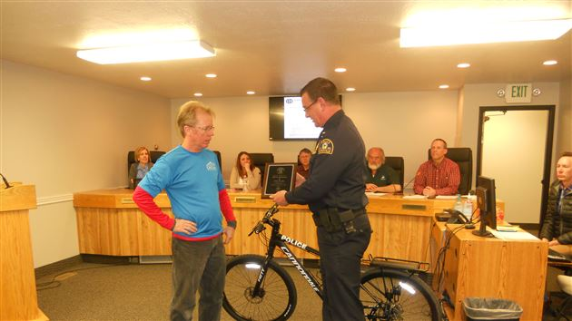 Three police departments receive donated bikes