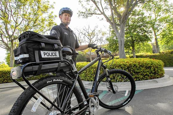Crime fighters mount trusty e-bikes