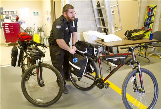 Cody EMTs hit the streets on bicycles to provide prompt care