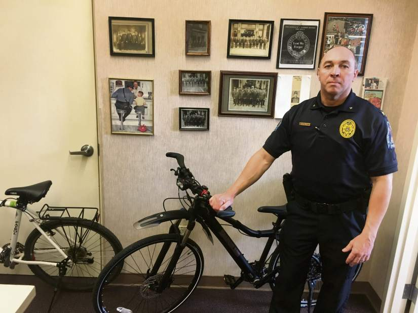 Police will once again ride bikes through Sharpsburg