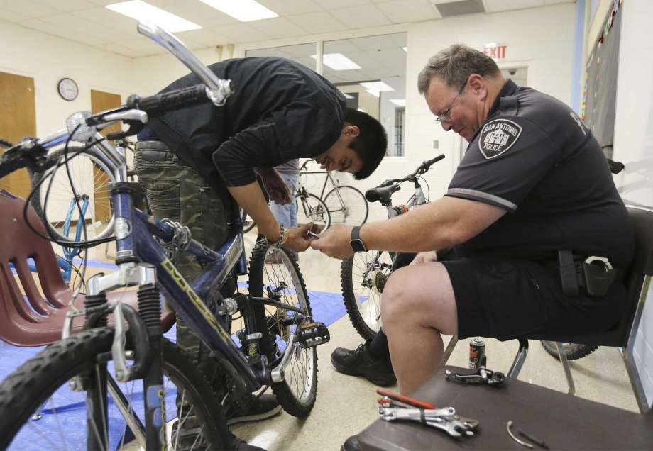 SAPD bike officers teach mechanics to special needs students