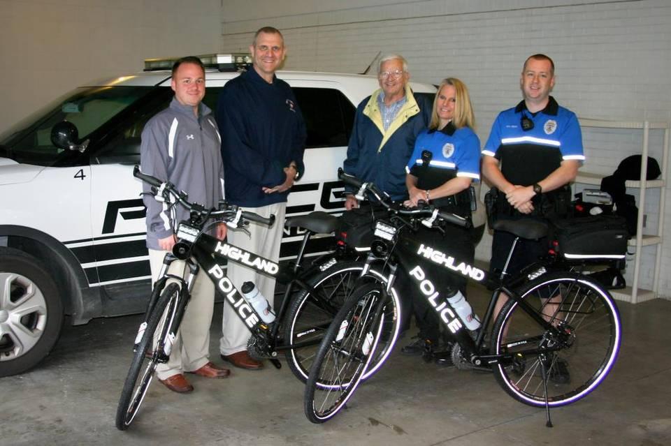 MCT donates bikes to Highland police