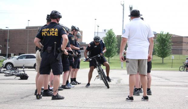 Topeka police take part in International Police Mountain Bike Association training