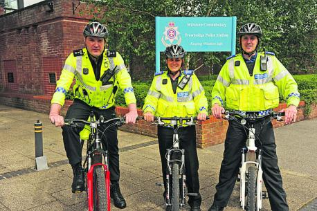 Trowbridge police cycle new idea to save costs