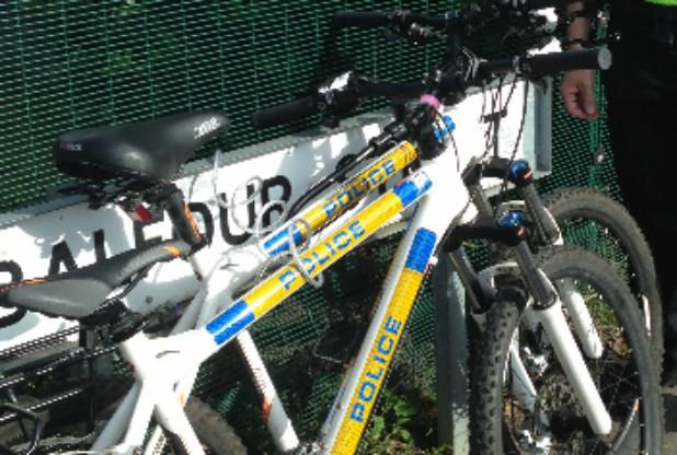 Two police officers' bikes stolen while they were on the beat
