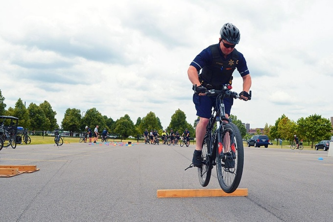 UB course teaches law enforcement on two wheels