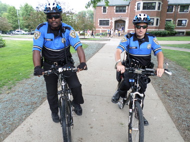 Notre Dame College police chief believes having officers pedaling on campus makes for a safer campus