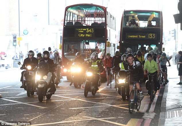 Police on bikes lead crackdown to prosecute motorists who drive within 5ft of cyclists