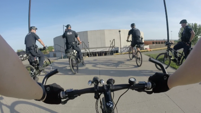 Minot police officers transition from four wheels to two