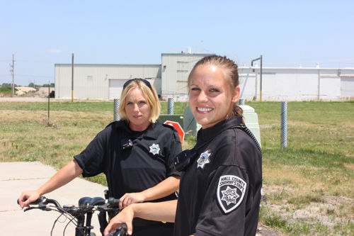 Deputies on bikes