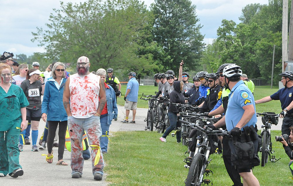 Zombie Apocalypse Simulation Helps Bike Cops Train for Crowds