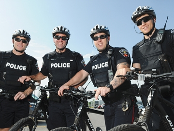 Durham police bike patrol unit watches over Whitby