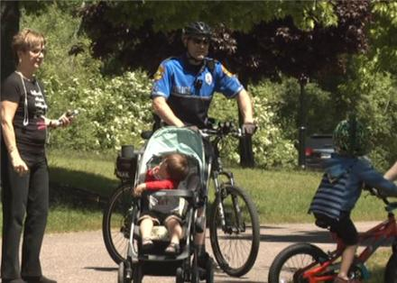 Bicycle patrols by Marquette City Police