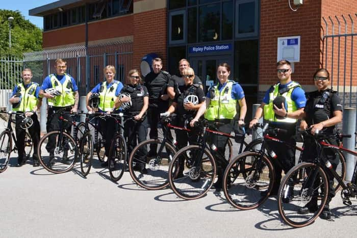 Police officers across Amber Valley get new bikes to carry out patrols