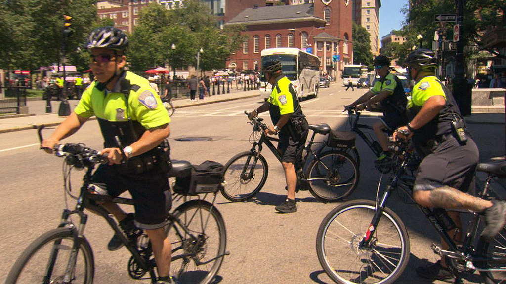 Boston Police Step Up Bike Patrols After Shootings