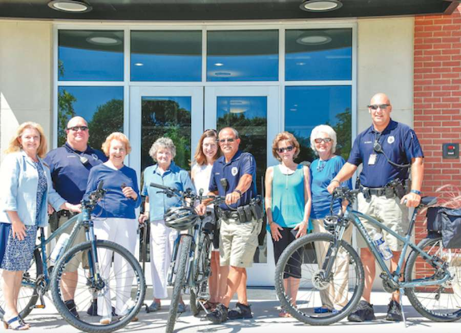 Foundation donates new police bicycles