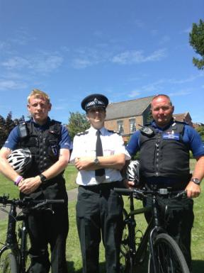 Bridgwater police get out and about on bikes