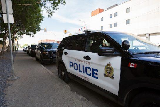 Edmonton bike patrol officers catch robber 15 feet outside bank