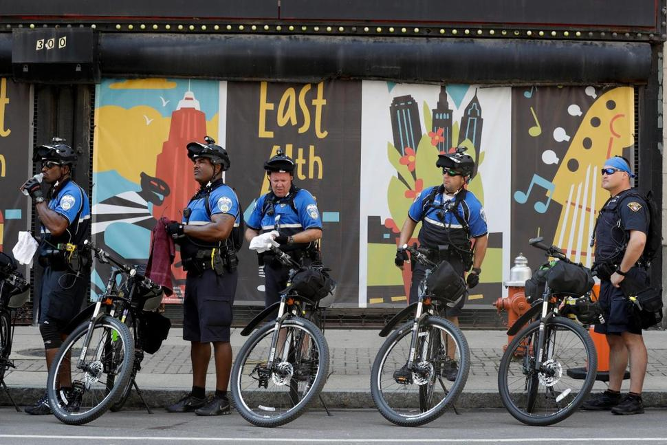 Cleveland police are relying heavily on bike patrols