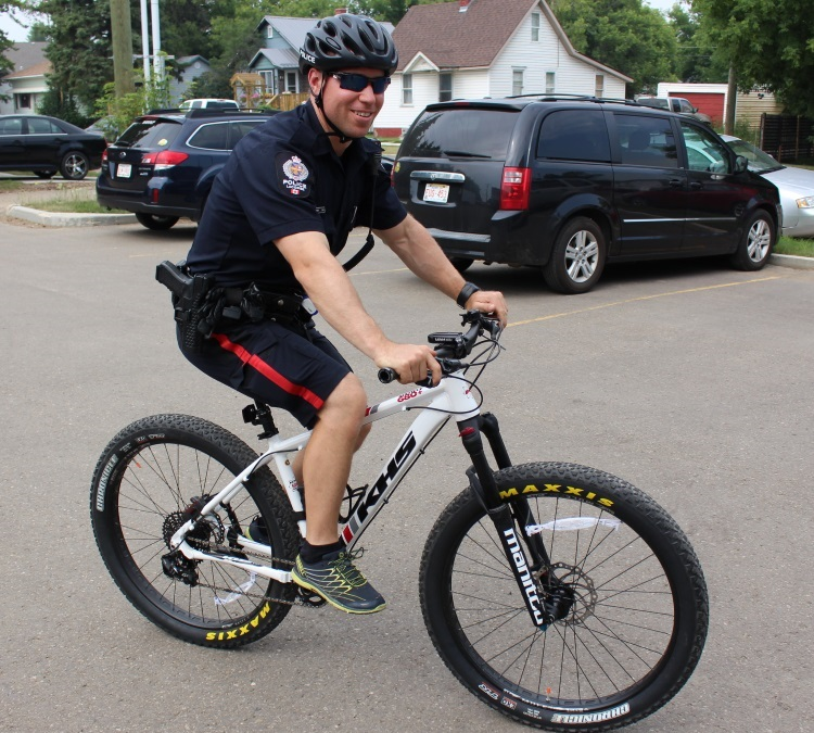 Lacombe Police Take to the Streets on Bikes