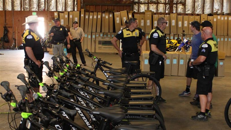 Ogden police gifted 10 new bicycles from Cycling Sports Group