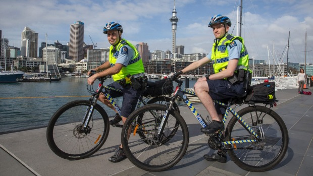 Auckland cops swap four wheels for two
