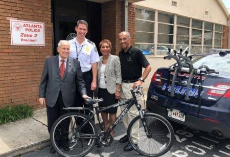 Buckhead Coalition donates bikes to new police patrol