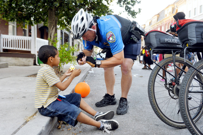 In York, police and residents enjoy block party event in stand against crime