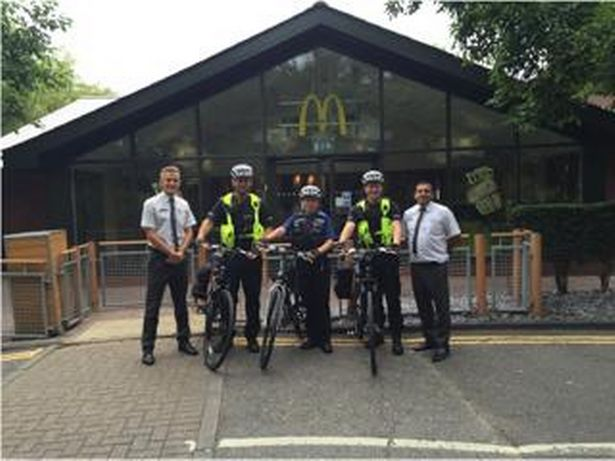 Bracknell police get on their bikes after McDonald's donation