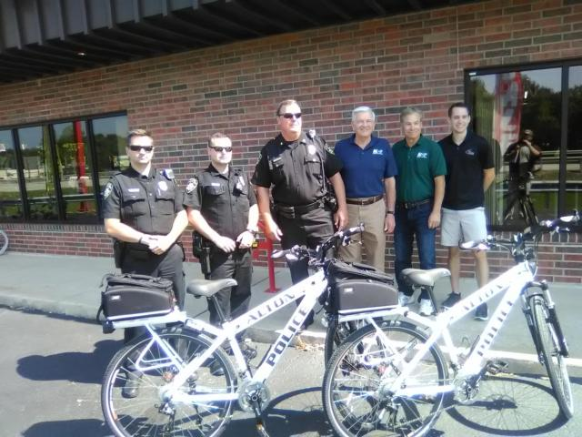 Pedal patrol: MCT gives new bikes to APD